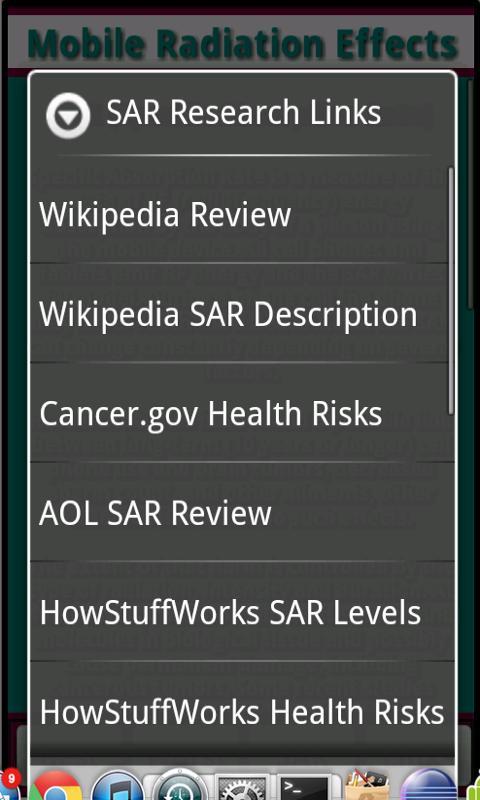 Mobile Radiation Effects- screenshot