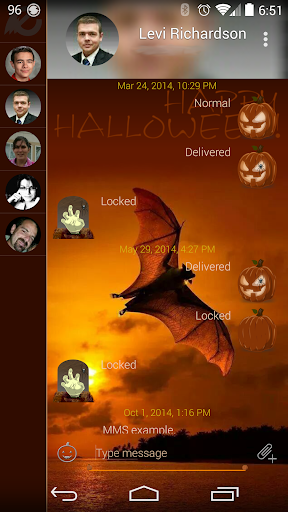Halloween EvolveSMS Theme