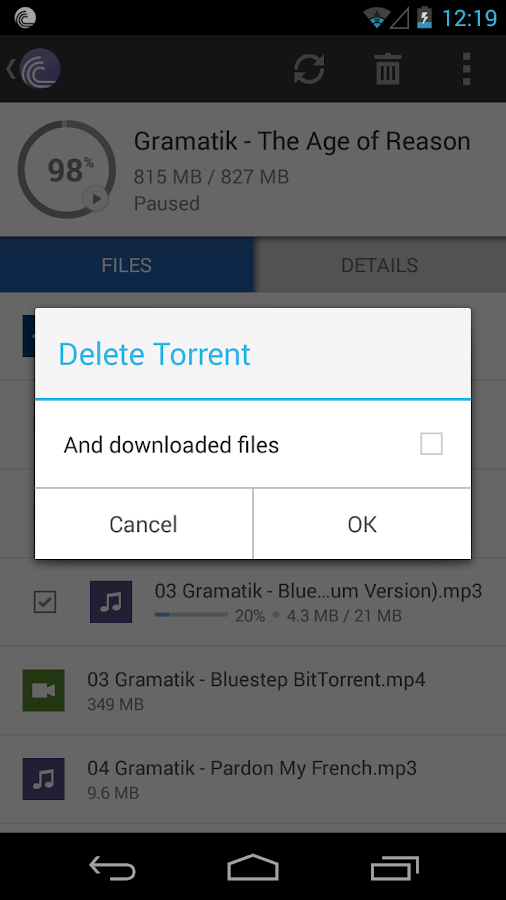 BitTorrent®- Torrent Downloads - screenshot