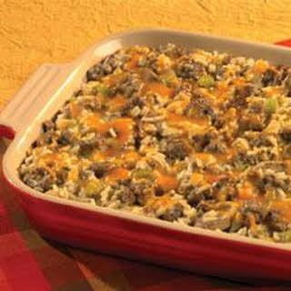 Hearty Sausage and Rice Casserole.