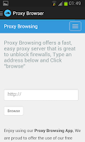 Screenshot of Proxy Browser