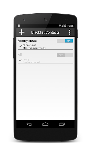 Blacklist Contacts