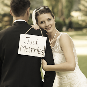 Just married by Vasiliu Leonard - Wedding Bride & Groom ( wedding photography, wedding day, wedding, bride and groom, wedding photographer, bride,  )