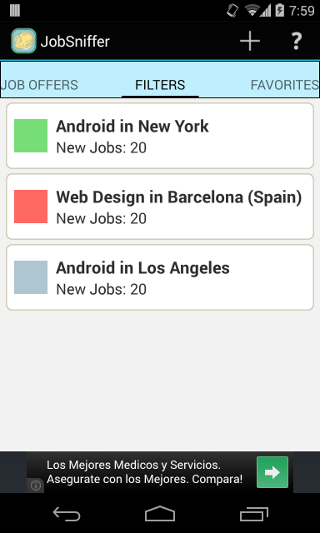 Job Sniffer- screenshot