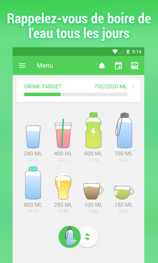 Boire de l'eau-Water Your Body – Applications Android sur