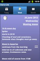 Screenshot of Lunar calendar Dara-Lite