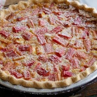 Rhubarb and Custard Pie Recipe