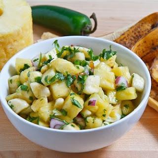Pineapple and Banana Salsa.