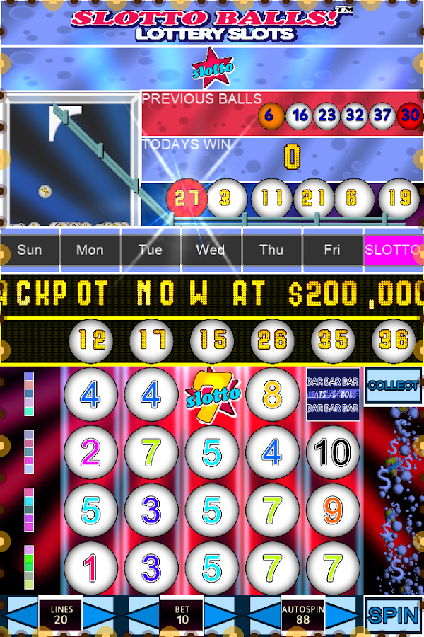 Lottery slots games