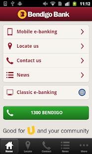 bendigo bank e banking