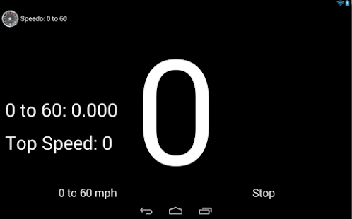 Speedo: 0 to 60 mph Screenshot