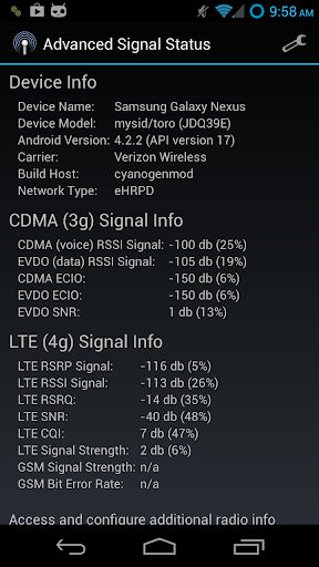 Advanced Signal Status 1.5.7 screenshots 2