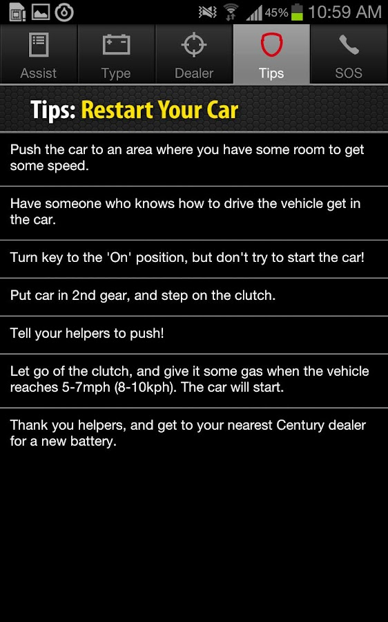 Century Battery Assist- screenshot