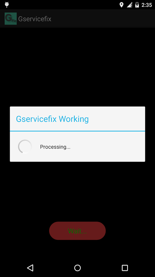 GServiceFix - screenshot