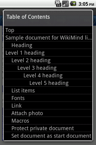 WikiMind note lite - screenshot