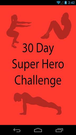 【免費健康App】30 Day Super Hero Challenge-APP點子