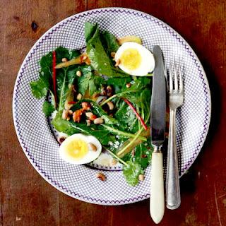 Collard Greens Salad with Peanut Vinaigrette.