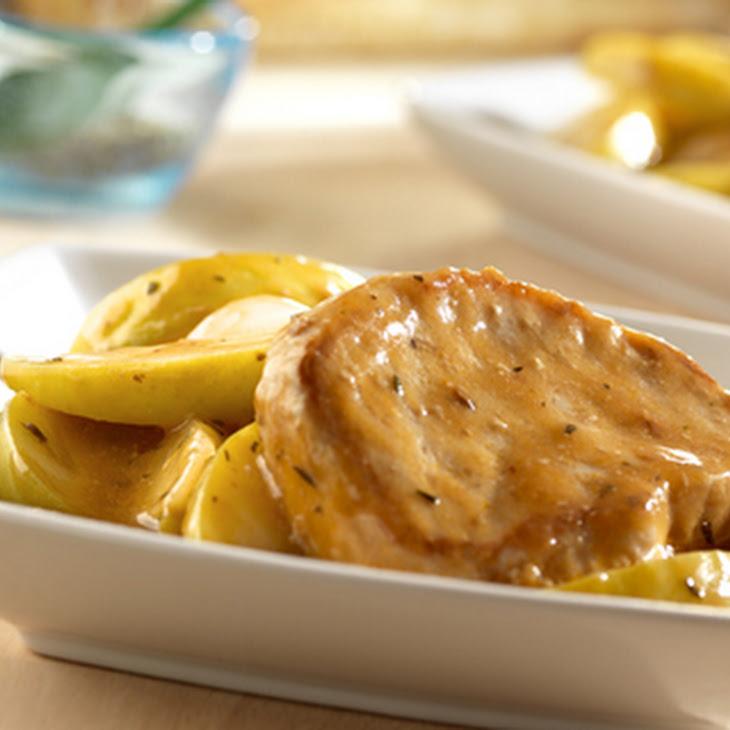 Slow Cooker Golden Mushroom Pork & Apples