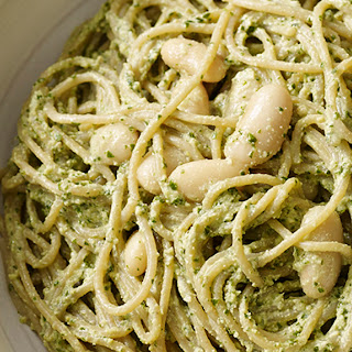 Pesto Pasta with White Beans