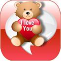Valentine's Day love SMS logo