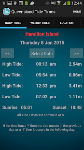Queensland Tide Times- screenshot thumbnail