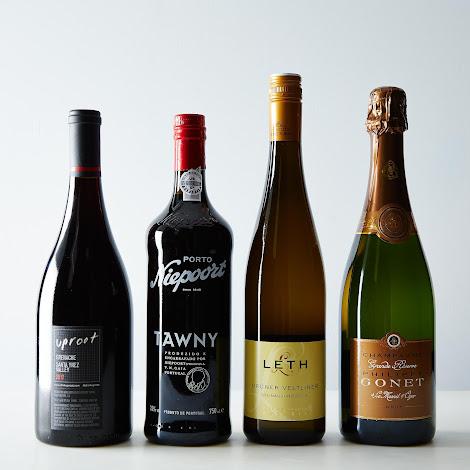 Wine Flight: Grande Reserve Champagne, Gruner Veltliner, Grenache & Tawny Port