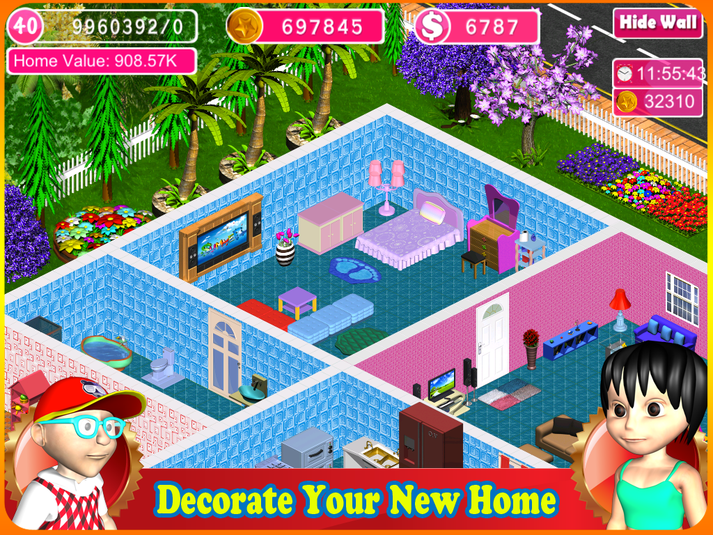 home design dream house screenshot - Home Designs Games