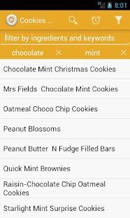 рецепти печива – ескіз знімка екрана