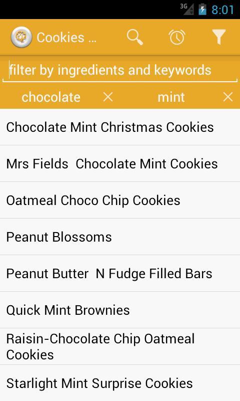 рецепти печива – знімок екрана