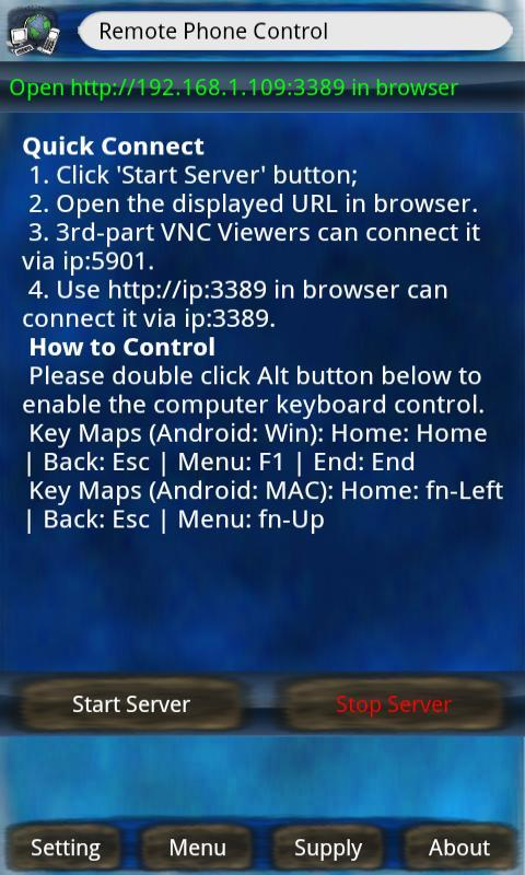 Remote Phone Control Lite - screenshot