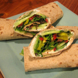GREEK GARDEN LAVASH WRAPS.