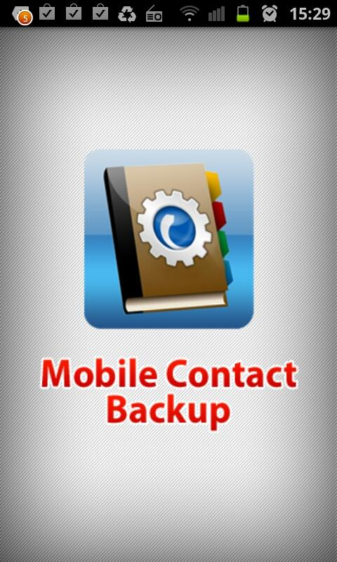 Mobile Contact Backup- screenshot