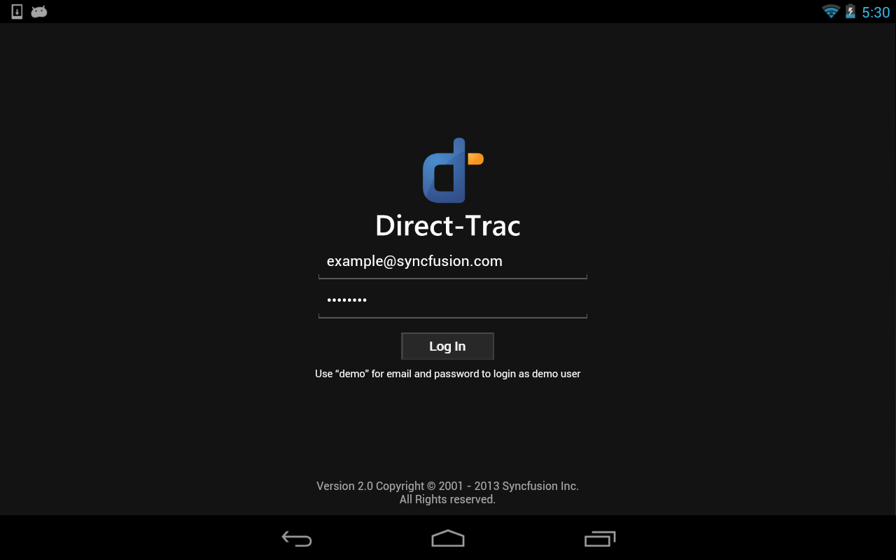 DirectTrac - screenshot