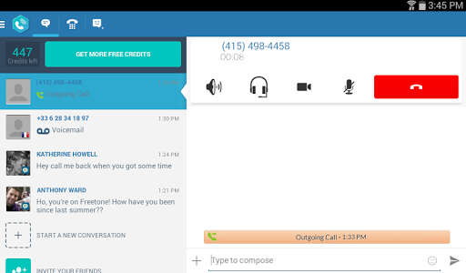 FreeTone Free Calls & Texting Screenshot