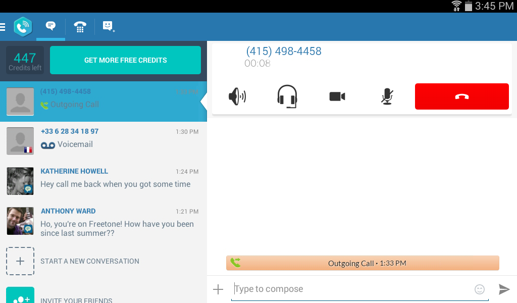 FreeTone Free Calls & Texting- screenshot