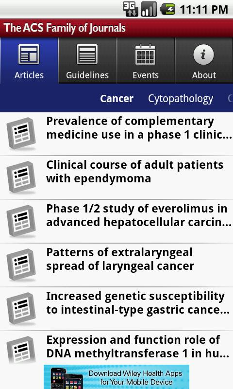 ACS Journals - screenshot