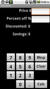 Discount Calculator - screenshot thumbnail