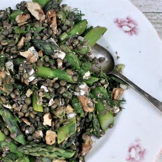 Lemony Lentil Salad with Asparagus and Spring Herbs.