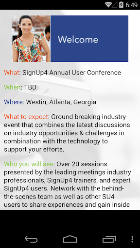 SignUp4 Users Conf