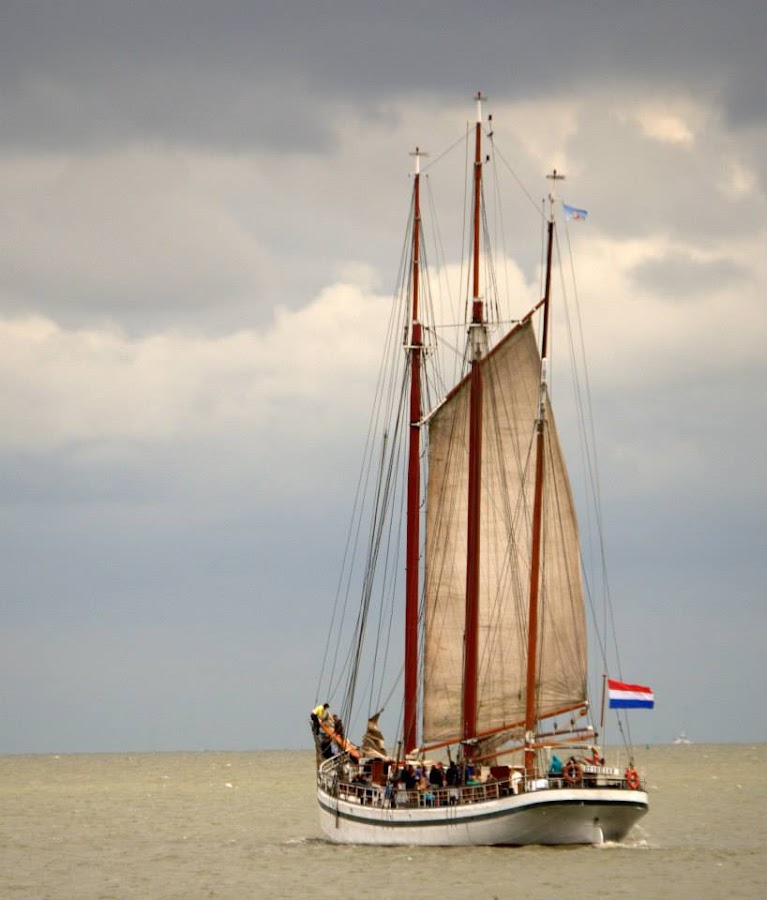 Volendam harbour by Tina Endall - Transportation Boats