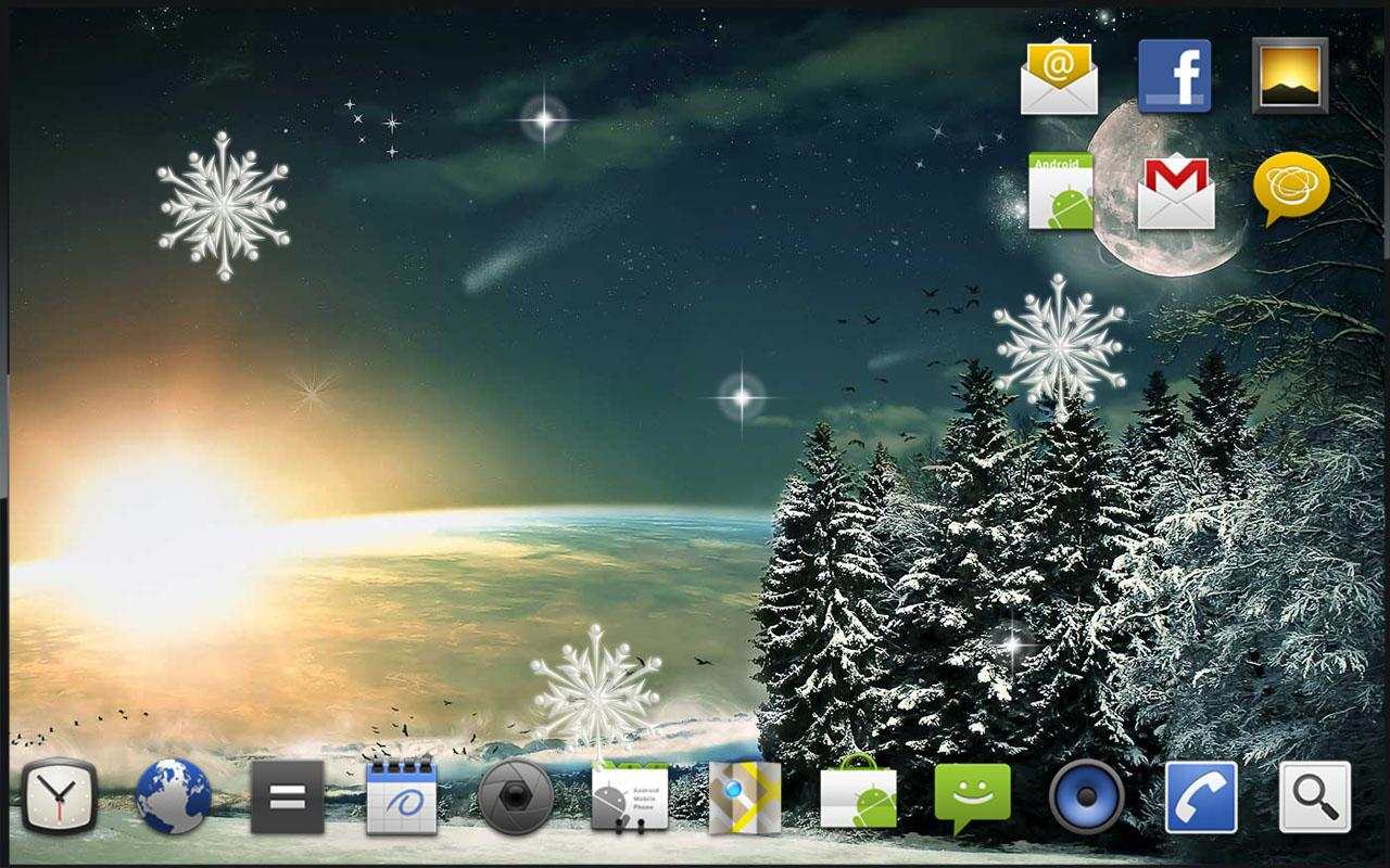 Winter Moon Live Wallpaper - screenshot