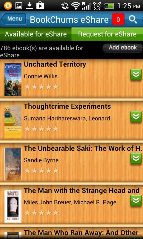 BookChums Free eBook Reader - screenshot