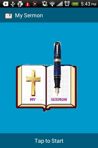 My Sermon - Service Notepad