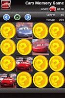 Screenshot of Matching: Cars