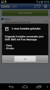 GMX SMS mit Free Message - screenshot thumbnail