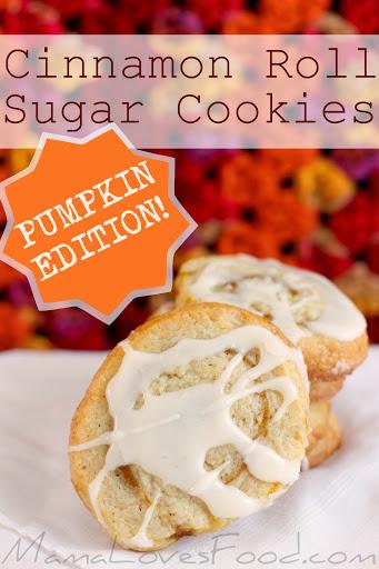 Cinnamon Roll Sugar Cookies - Pumpkin Edition!