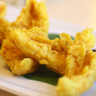 Fried Coconut Milk Battered Fish.