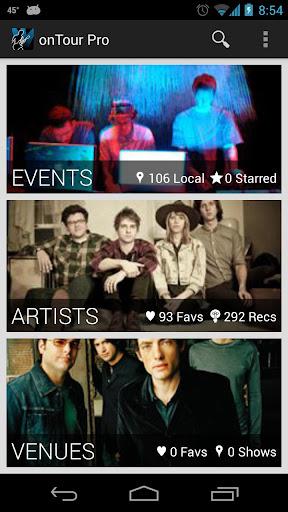 onTour - Concert Finder