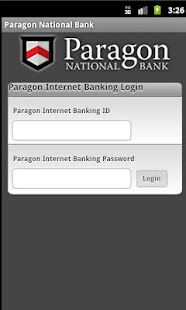 Paragon National Bank - screenshot thumbnail