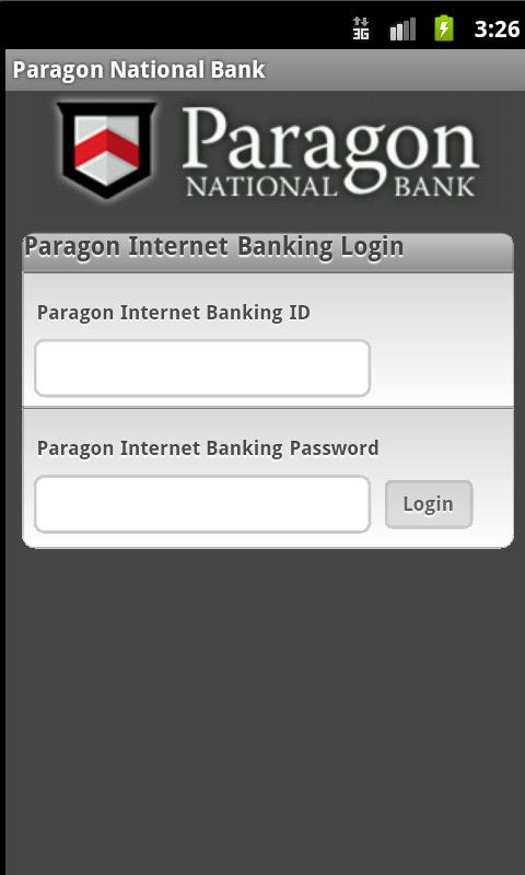 Paragon National Bank - screenshot